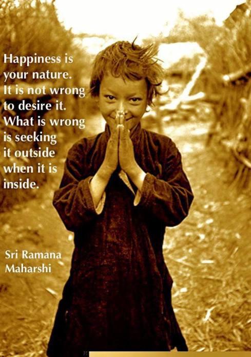 快樂是你的本性,渴望快樂並非錯誤,錯誤的是當快樂在裏面時卻從外在尋找。